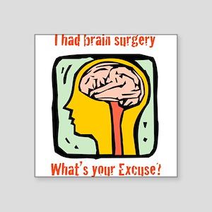 "Brain-3-[Converted]b Square Sticker 3"" x 3"""